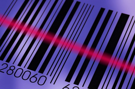 Barcode and laser beam macro